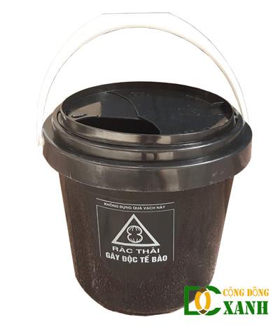 Thùng đựng chất thải y tế không sắc nhọn loại 10 Lít màu đen