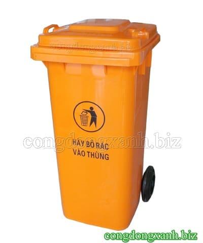Thùng rác màu cam 120 lít