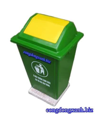 thùng rác công cộng có đế