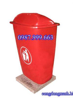 thùng rác cố định nhựa composite