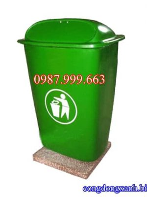 thùng rác cố định 50 lít