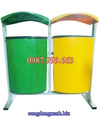 thùng rác treo