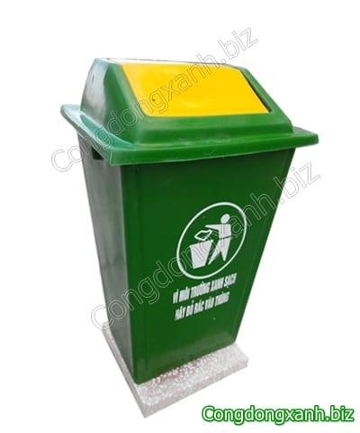 thùng rác công cộng có đế 60L