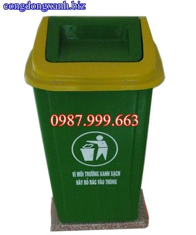 thùng rác có đế 90 lít