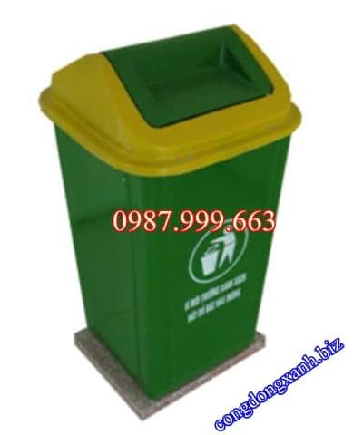 thùng rác cố định
