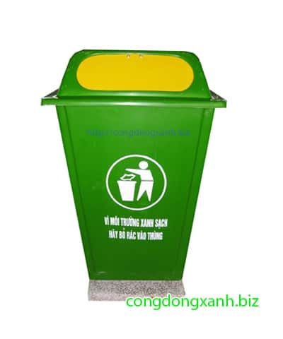 thùng rác có đế 60 lít