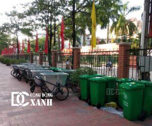 Cung cấp xe gom rác và thùng rác