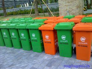 Thùng rác công cộng tại Eco Park