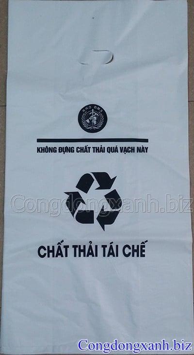 túi đựng rác thải màu trắng