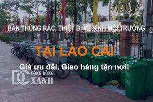 Bán thùng rác, xe gom rác tại Lào Cai