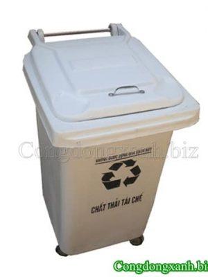 thùng rác 60l có bánh xe