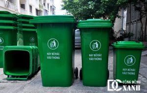 Thùng rác nhựa 60 lít, 120 lít, 240 lít