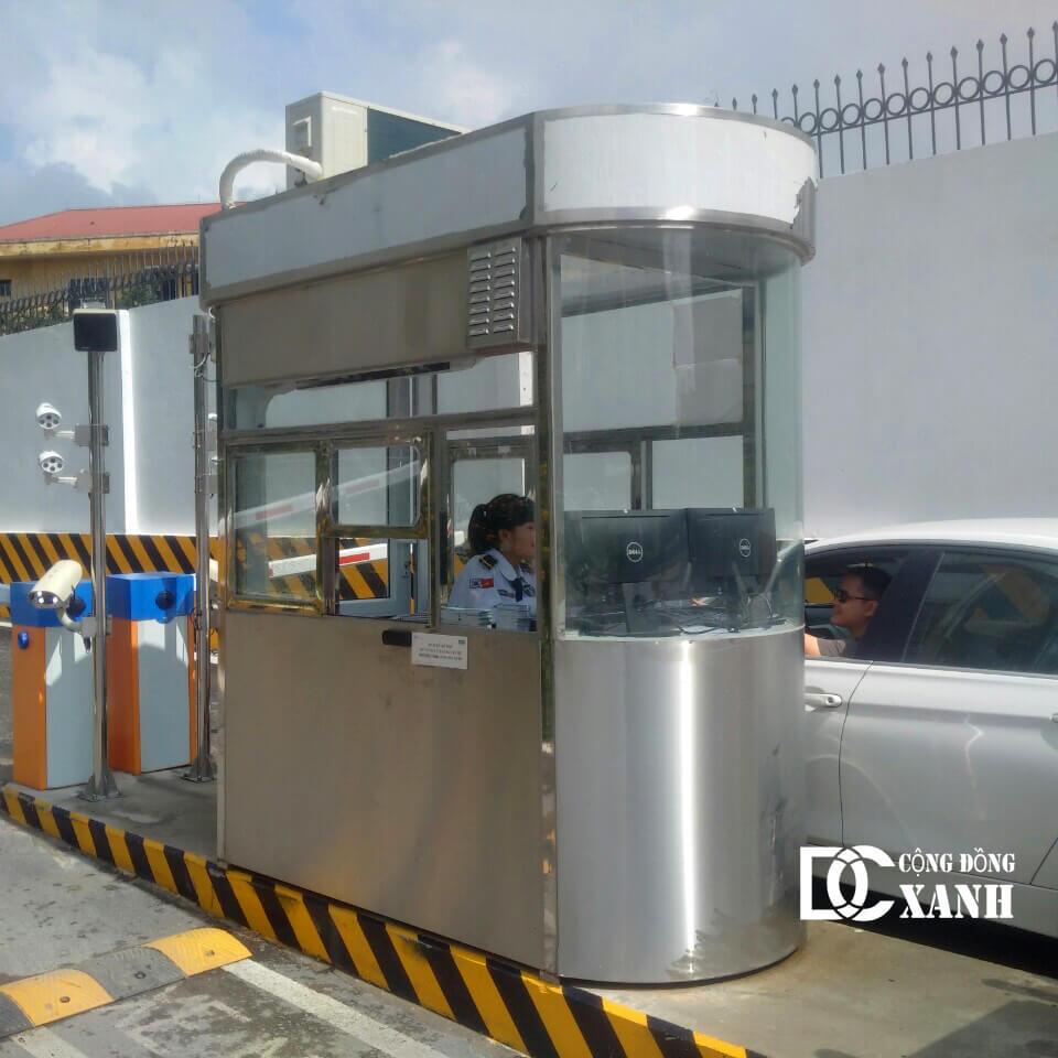 Bốt gác bảo vệ Inox cao cấp cho bãi trông xe