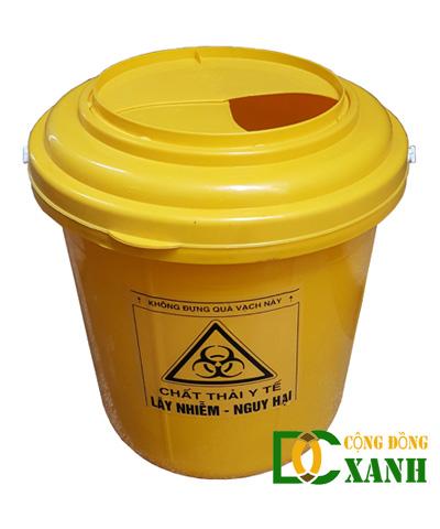 Thùng đựng chất thải y tế không sắc nhọn loại 14 Lít vàng